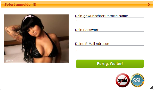 PornMe Anmeldung